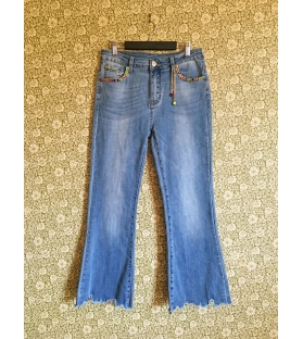 Jeans Charms Pietre Colorate