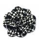 Spilla Rosa Tessuto bianco nero Ø 15cm