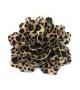 Spilla Rosa Leopard Tessuto Ø 15cm