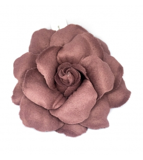 Spilla Fiore Rosa Tessuto Malva Ø 15cm