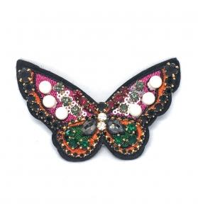 Spilla Farfalla con pietre 10x6 cm