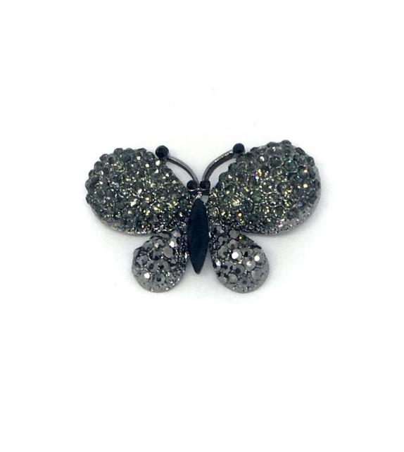 Spilla Farfalla con pietre metallo