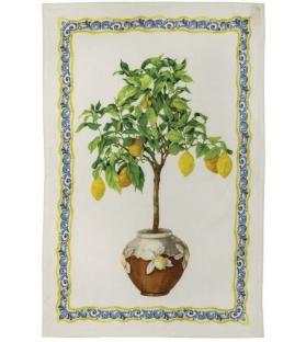 Strofinaccio in Lino Limonaia 50x70 cm puro Lino