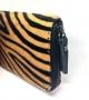 Portafogli Zebrato in cavallino con zip Vera pelle 15,5x2,5x10,5