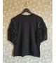 T-shirt Frange Paillettes Nero