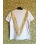 T-shirt Doppia Frangia Lurex