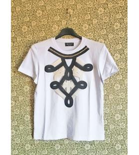 T-shirt Ricamo e Strass