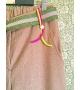 Pantaloni Spigati con cintura lurex