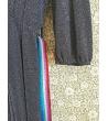 Vestito Scollo a V Lurex con cintura pon pon