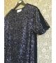 Vestito Paillettes Velluto Blu Nero