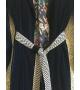 Giacca lunga in velluto con cintura