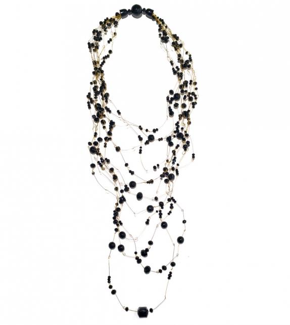 Collana lunga Elegance Fili e Cristalli