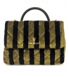 Borsa trapuntata Dark Stripes Medium