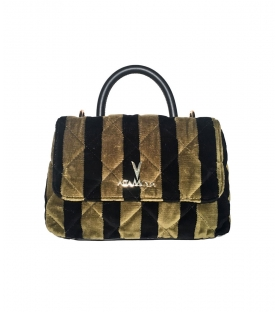 Borsa trapuntata Dark Stripes Small