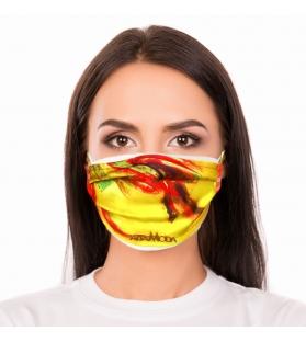 Cover per mascherina Yellow Flame Altamoda