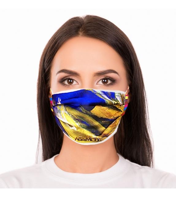 Cover per mascherina Blue Flame Altamoda