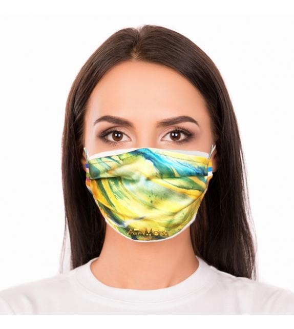 Cover per mascherina Abstract Yellow Altamoda