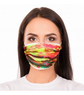 Cover per mascherina Abstract Fluo Altamoda