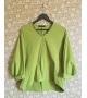 Maglia casacca verde con pietre