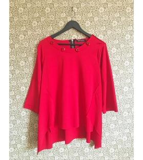 Maglia casacca rossa con pietre