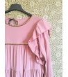 Vestito con volant rosa