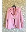 Giacca rosa con chiusura alamaro