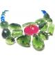 Collana Collier Pietre in resina Corsari verde blu rosso