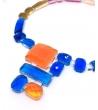 Collana Deco Collier in resina Corsari Arancione Azzurro Rosa