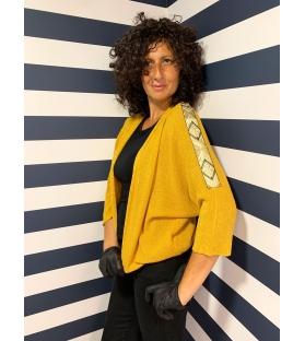 Giacca a maglia Syria giallo