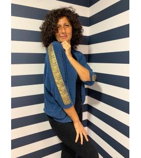 Giacca a maglia Syria blu