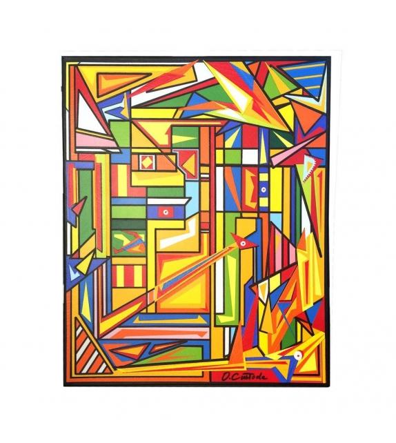 Quadro Stile Cubismo Decorazione Colori