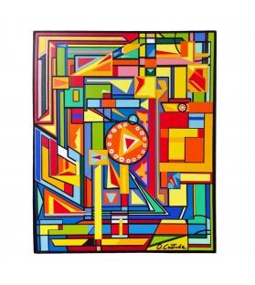 Quadro Stile Cubismo Decorazione Colori V3