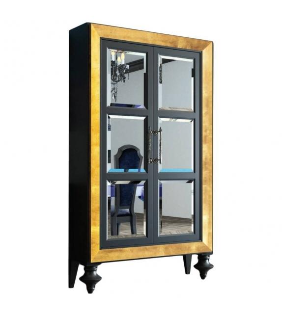 Cabinet Armadio a Specchi Nero opaco Pan de Oro