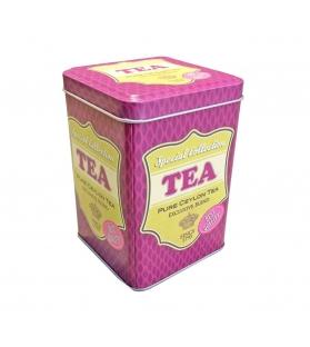 Barattolo Porta Tè e Tisane metallo fucsia