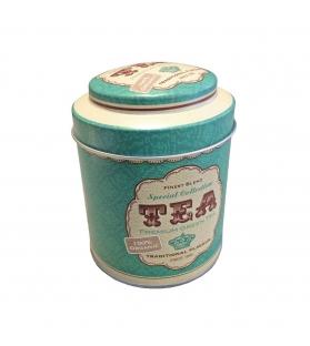 Barattolo Porta Tè e Tisane metallo tondo green