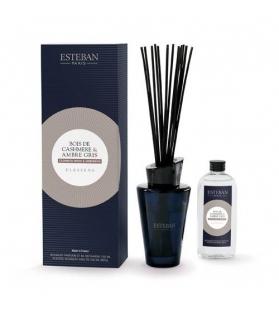 Esteban Paris Bouquet Profumato - CASHMERE WOOD & AMBERGRIS con stick e ricarica 150 ml