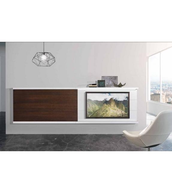 Struttura porta TV + mensole con luce a LedBeKreative
