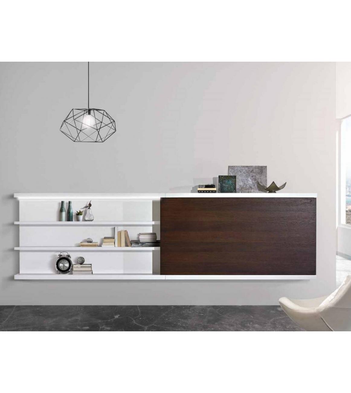 Struttura porta tv mensole con luce a ledbekreative for Mensole porta quadri