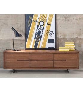 Porta TV in legno di rovere 170x50x52