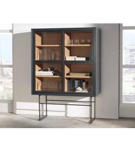 Cabinet Vetrinetta Cubo Base Ferro