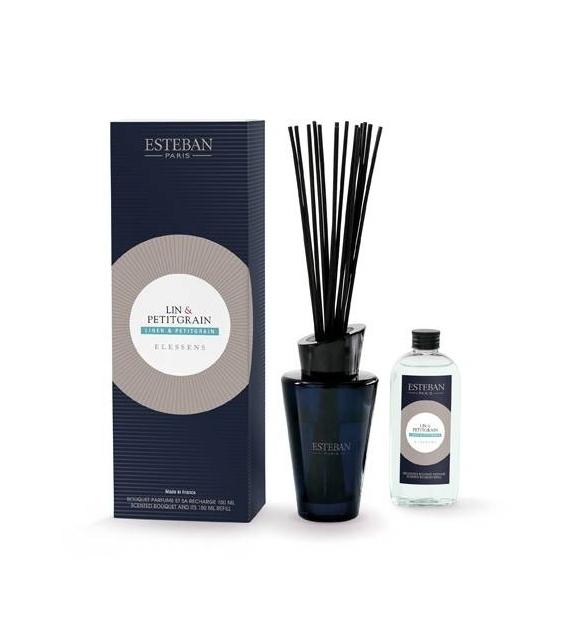 Bouquet Profumato - LINEN & PETITGRAIN con stick e ricarica 150 ml