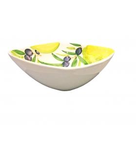 Ciotola Quadrata Limoni e Olive