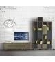 Composizione 30 porta tv + pensili verticali